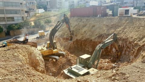Excavation Continues Below Ground Level